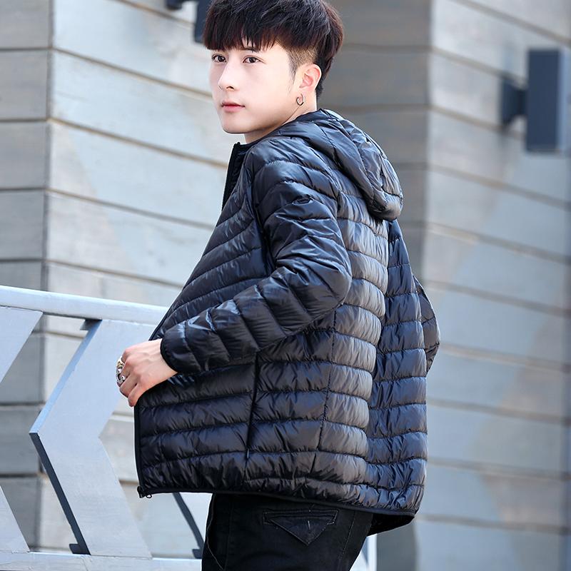 秋冬男士连帽羽绒服轻薄保暖外套