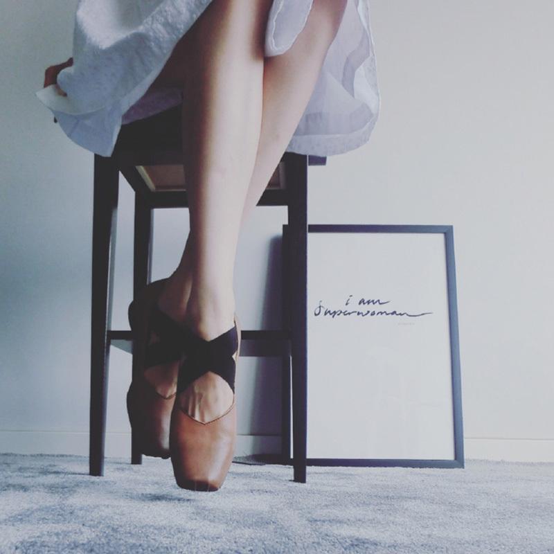 蛋定诚品 仙女芭蕾舞鞋绑带单鞋女软皮平底复古真皮粗跟玛丽珍鞋