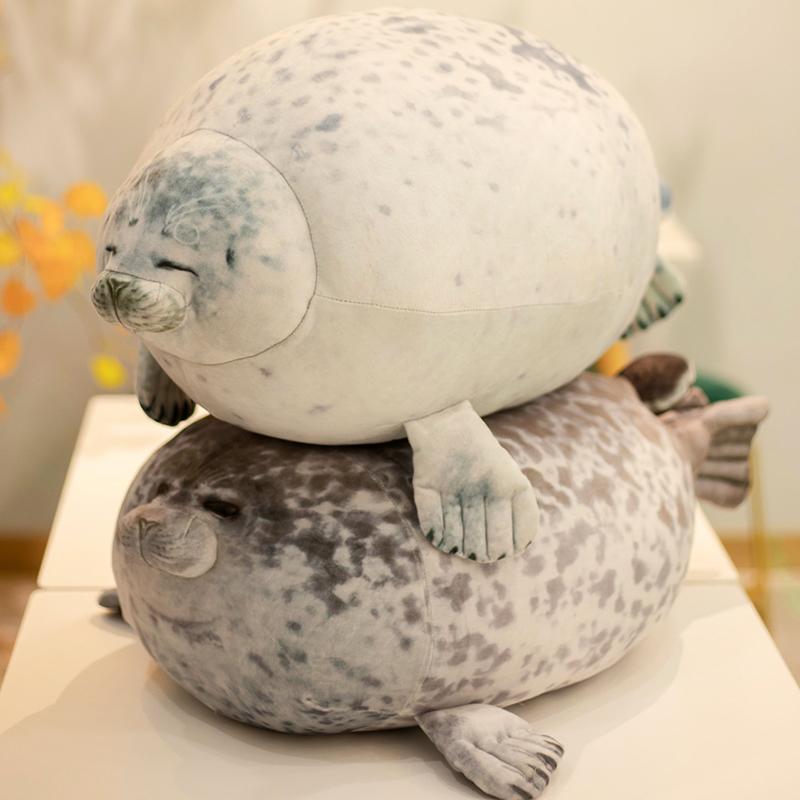 仿真日本大阪海豹团子小海豹抱枕质量好不好