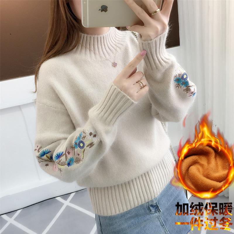 秋冬季女装新款2020爆款半高领毛衣