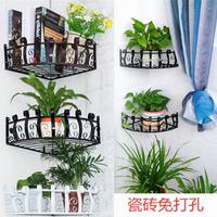 铁艺花架壁挂转角墙上花架墙角置物架绿萝吊兰架多功能三角置物架