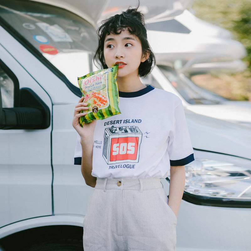 满119.00元可用1元优惠券宽松女韩版学生半袖网红ins潮t恤