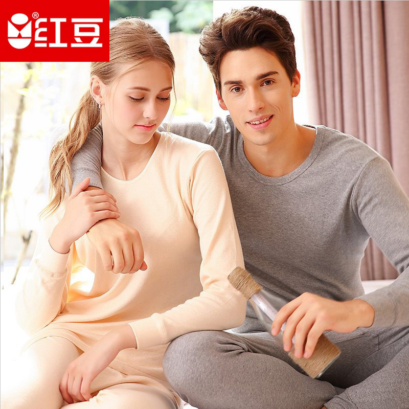 Red bean autumn clothes, autumn pants, womens cotton suit, loose cotton father, mans cotton sweater, thin middle-aged and old peoples mother