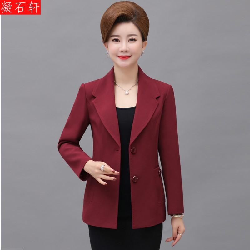 中年女装春秋短款外套中老年秋装薄款小西装40-50岁妈妈时尚上衣