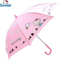 Child umbrella girl Sunny umbrellas handle student automatic long handle cartoon little girl rain Gear kindergarten Kitty