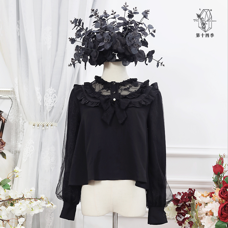 [shirt drop from stock] girls box 1.0 shirt - Season 14 original Lolita with Lace Chiffon inside