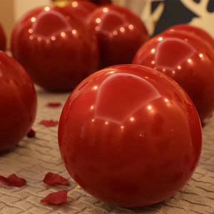单层宝石红气球结婚庆派对场景婚房