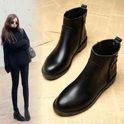 2020年新款秋冬季雪地平底43女短靴