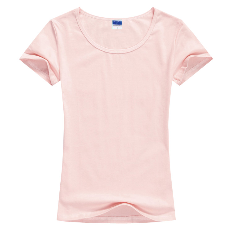 Summer blank t-shirt female style slim round neck half sleeve activity class clothes advertising shirt hand painted T-shirt DIY pattern