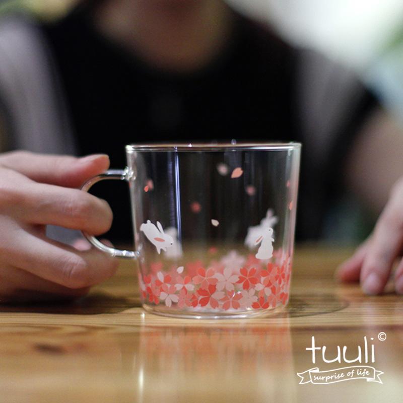 tuuli和风樱花系列耐热耐高温水杯创意zakka日式牛奶玻璃杯
