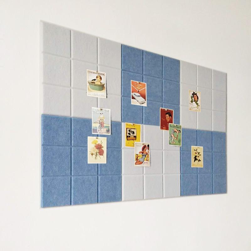 软木板自粘墙小方格毛毡幼儿园装饰展示板照片墙公告栏家居留言板