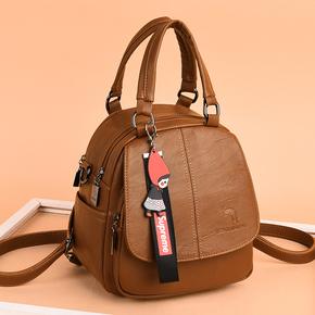 墨森歌袋鼠双肩包女包2020新款韩版潮时尚单肩斜挎包百搭两用背包