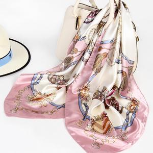 三八妇女节礼物上海故事丝巾90x90cm仿 真丝大方巾正方形小围巾女