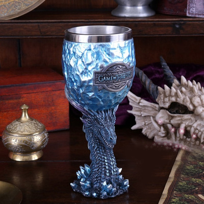 Power game cup beer cup creative sculpture goblet stainless steel wine cup 3D water cup personalized cup
