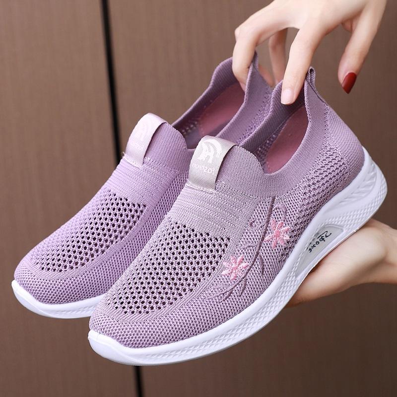夏季老北京布鞋女网鞋透气网面运动妈妈鞋中老年人女士网眼健步鞋