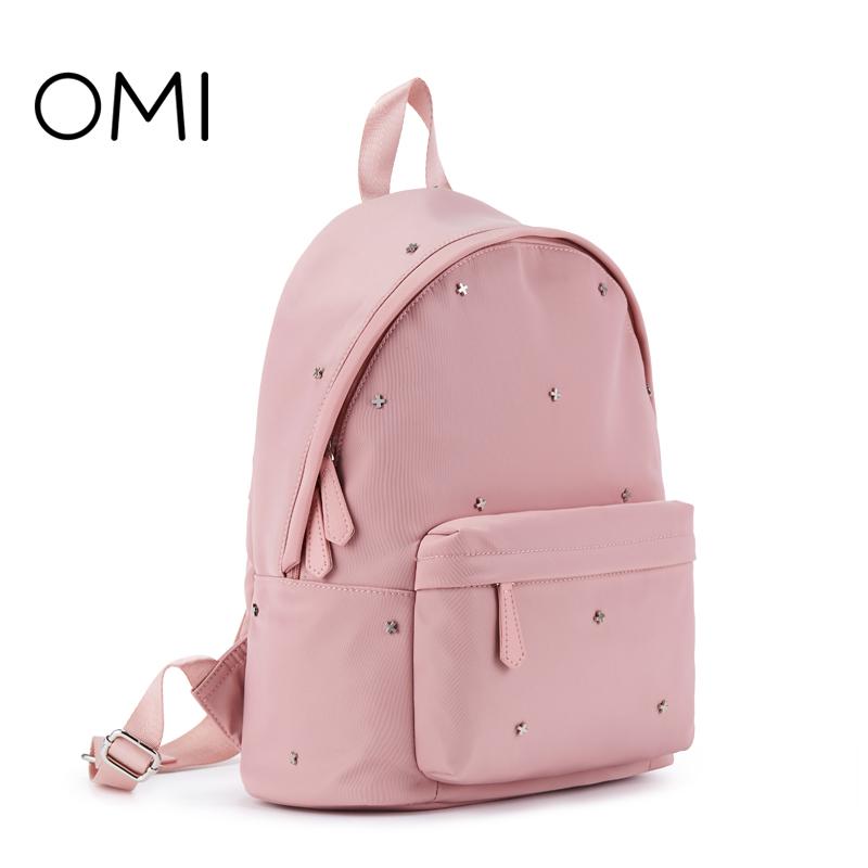 欧米omi 2019新型学院風学生カバン小清新リュックサック女性カバンファッション旅行カバンZ