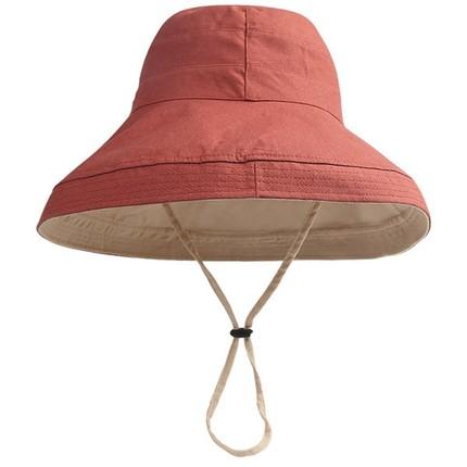韩版潮网红遮阳帽防晒紫外线渔夫帽