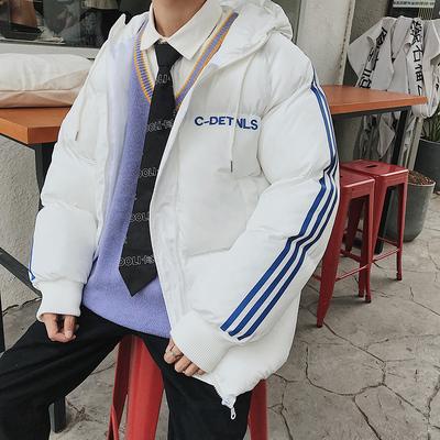 A437-Y11-P95特 一件简约加厚面包服 学生情侣班服棉衣男 控128