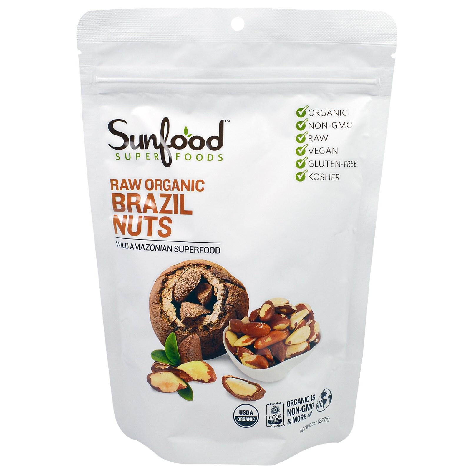 Сейчас в надичии ! сша Sunfood Brazil Nut сырье бразилия крепки фрукты морское ушко рыба фрукты благожелательность пустыня фрукты благожелательность 227 грамм