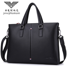 Zhuofan Armani Business Bag Men's Handbag Computer Bag Genuine Leather Horizontal Single Shoulder Slant Bag Men's Bag Cowhide