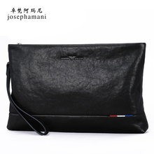 Zhuofani men's handbag authentic men's handbag business large capacity envelope bag hand bag leather leather soft leather