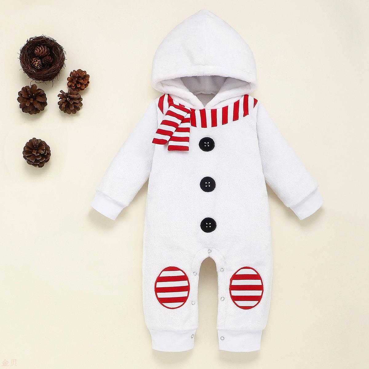 Ins new childrens wear mens and womens Snowman embroidered Hoodie Jumpsuit climbing clothes ha clothes Hoodie Jumpsuit