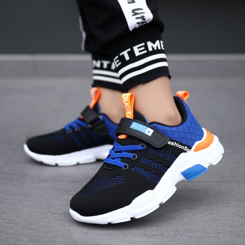 回力男童鞋子春款潮2021年新款飞织网面儿童运动鞋中大童男孩网鞋