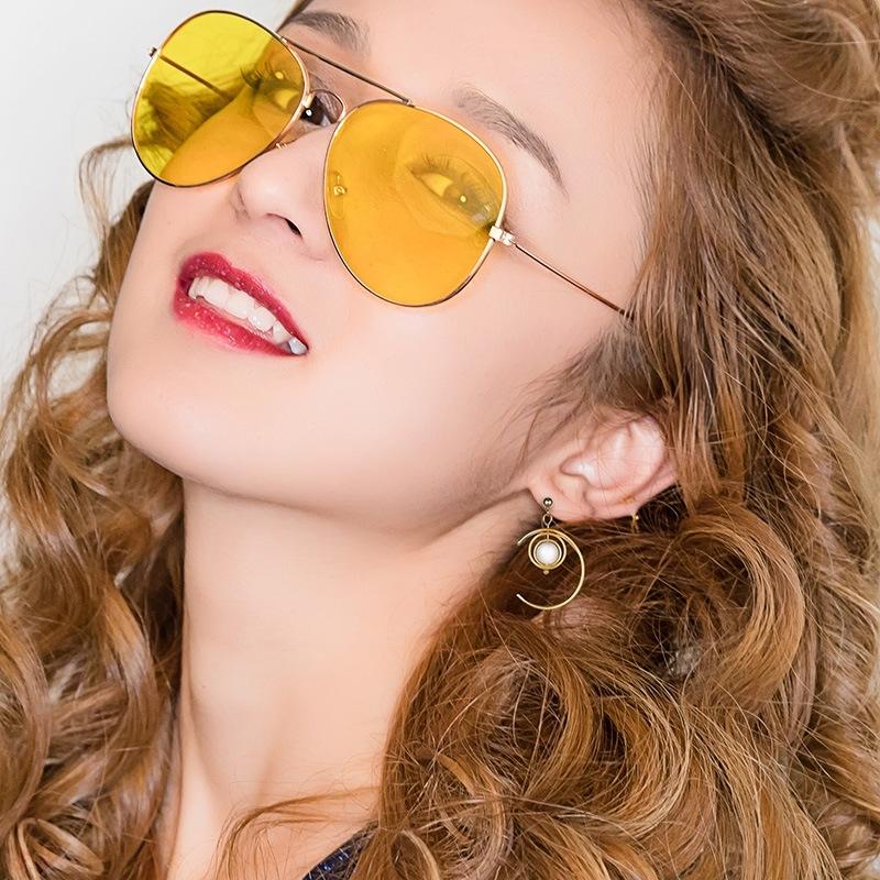 S925 Sterling Silver Opal Tassel Earrings Korean retro simple European and American style earrings movable Earrings