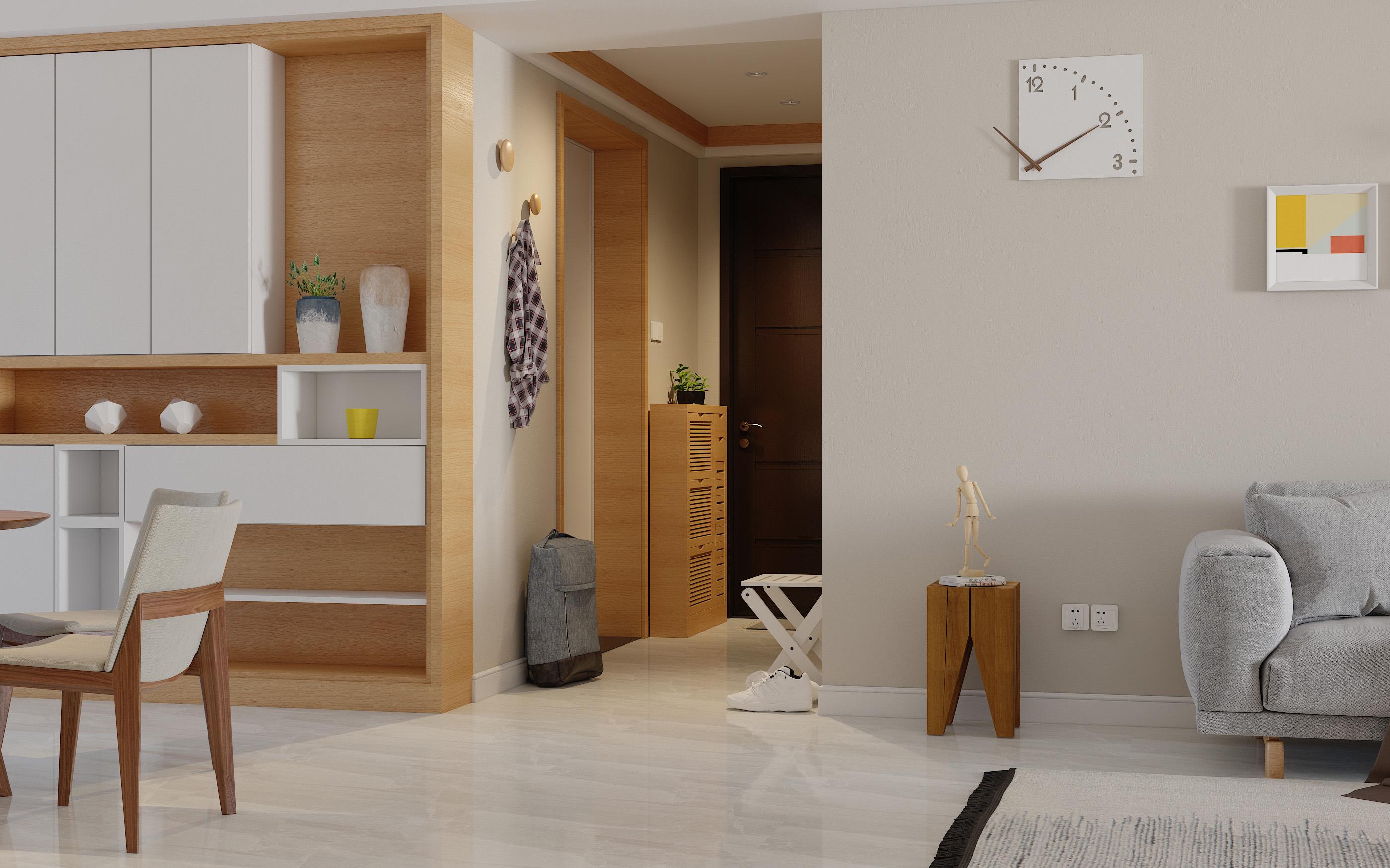 北欧日式小户型风格家装修设计效果图3D全屋原创定制资深设计师