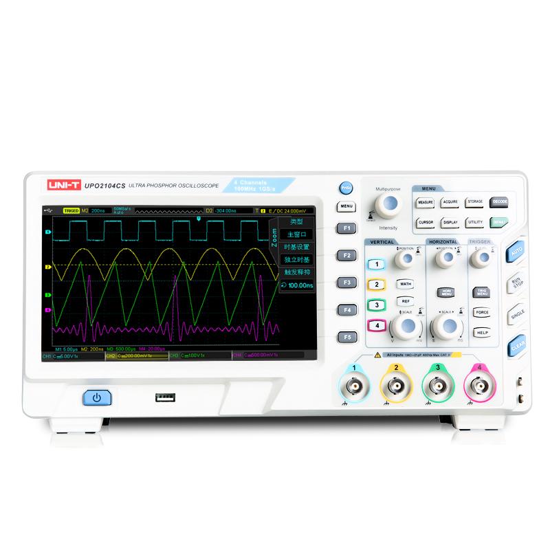 优利德UPO2104CS数字荧光示波器4通道示波器台式存储100MHz,可领取100元天猫优惠券