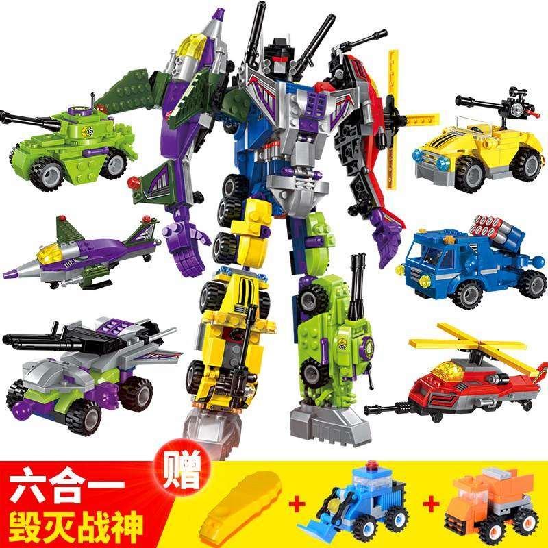 儿童战斗全套铠甲勇士我的世界机器人大战大型二战积木男孩子畅销
