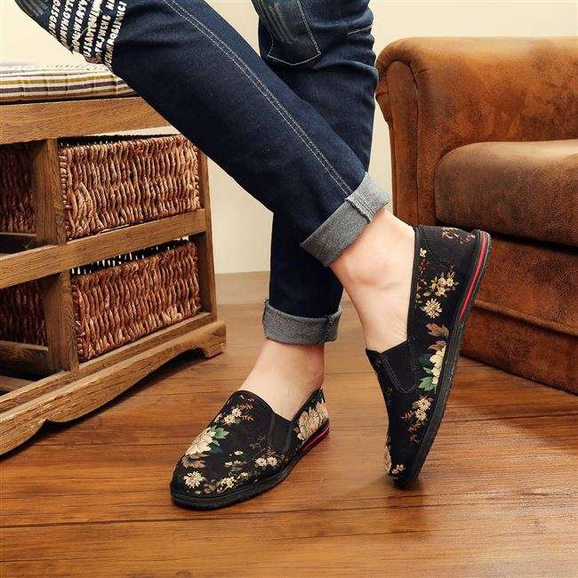 7006 mens printed shoes with low top and thousand layer sole