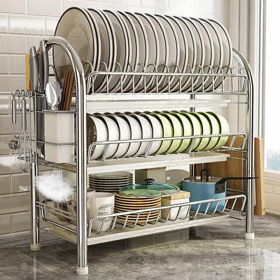 厨房架子置物架落地多层碗碟架控水碗架沥水收纳架放碗盘餐具用品