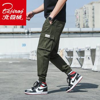 bejirog /北极绒哈伦潮牌工装裤