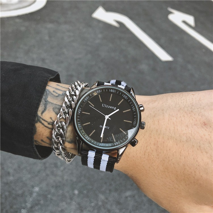 Fashion brand couple watch couple mens a pair of domineering fashion trend girl Middle School Students Leisure Canvas large plate Watch