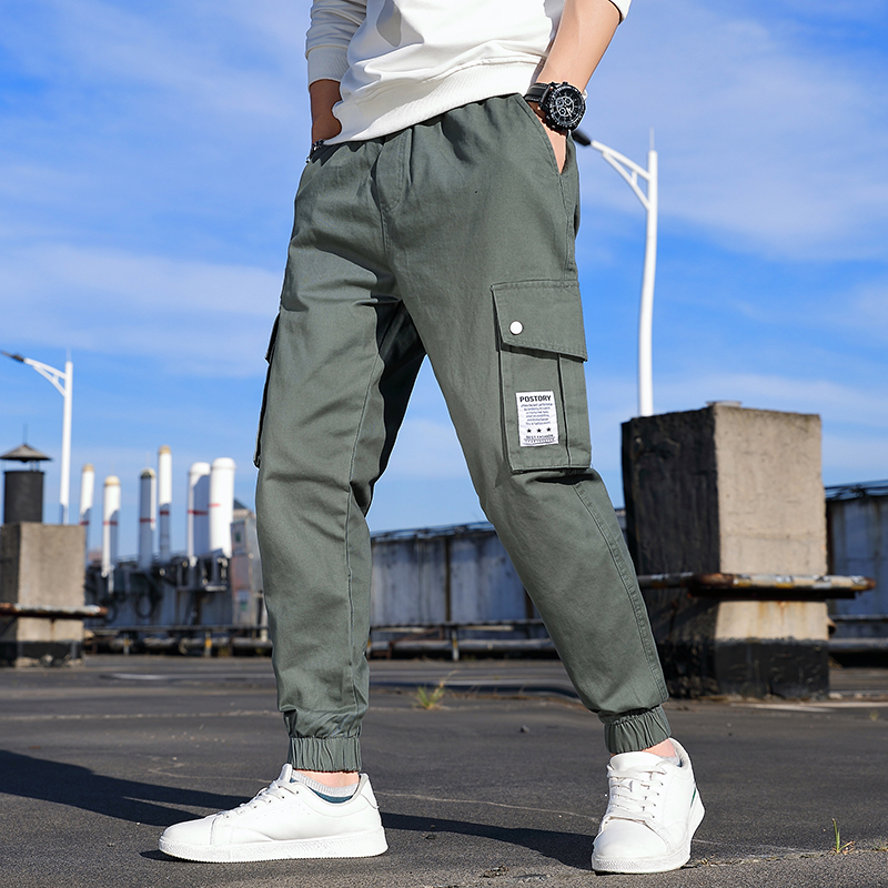 Pants mens overalls autumn winter Korean version trend versatile nine point legging leisure sports autumn student pants fashion brand