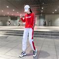 广场跳舞套装女爵士舞曳步蹈服饰韩版休闲鬼步舞演出服表演反光裤