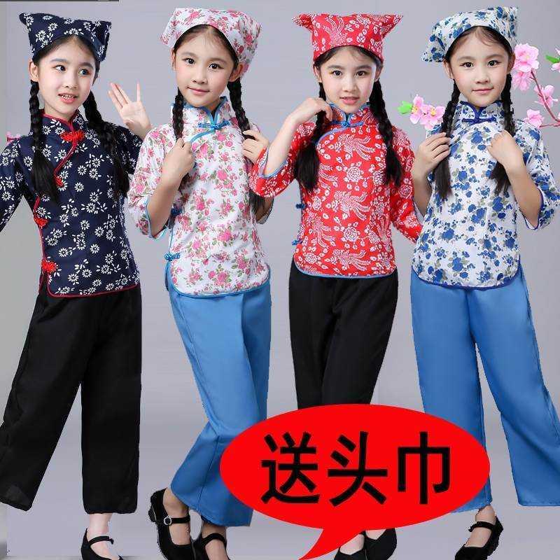 儿童村姑铁梅阿庆嫂老太太表演服舞台话剧媒婆老奶奶茶花女演出。