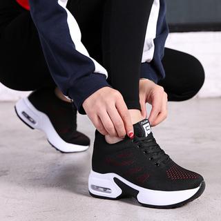 恩施耐克正品牌春秋内增高女鞋8cm网面透气休闲运动鞋女厚底显瘦