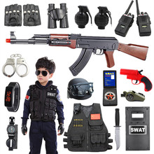 Children's police toy gun full set real person eating chicken equipment special forces small special police clothes toy boy