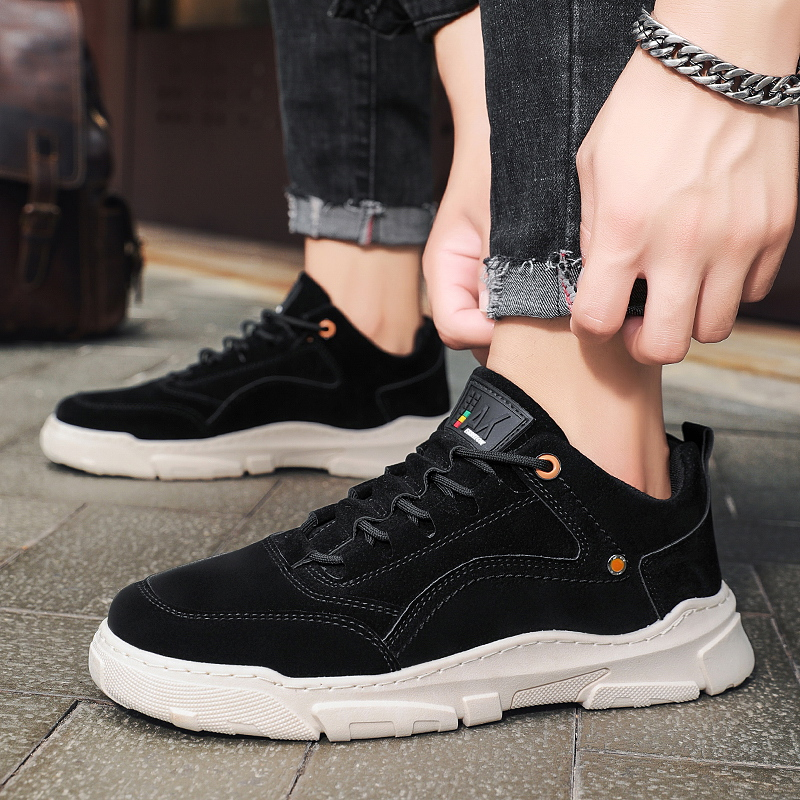 Autumn new sports outdoor leather low top tooling Martin shoes mens trend versatile leisure high top boots