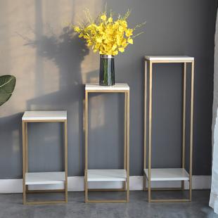 北欧花架子铁艺金色轻奢简约现代客厅室内花盆架绿萝落地置物花架