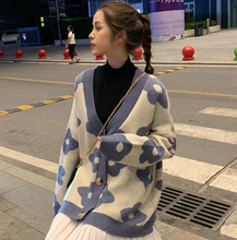 Sweaters, jackets, cardigans, new sweaters for autumn and winter of 2019. Loose Korean version of lazy student-style knitted sweaters