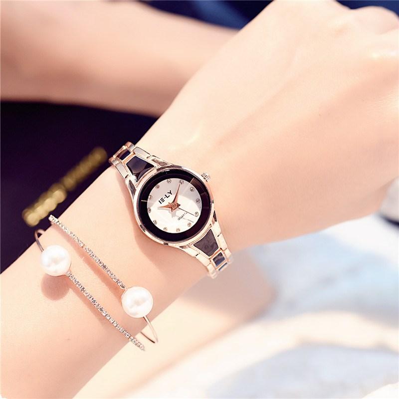 Korean ceramic watch female fashion trend female student white simple small dial fashion temperament Bracelet womens Watch