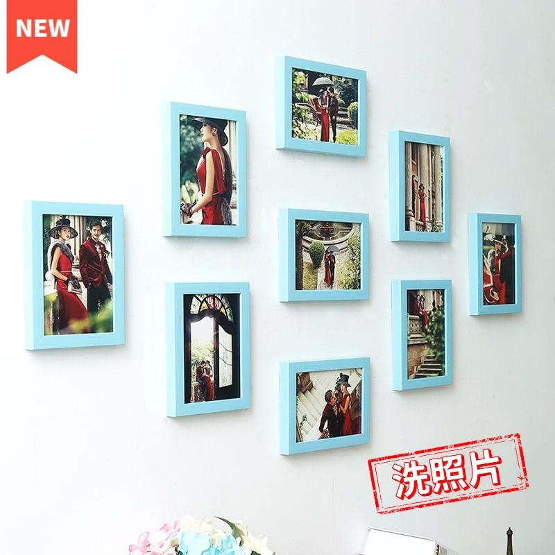 客厅照片墙房间装饰ins墙壁挂件免打孔相框卧室挂墙相片框 洗照片