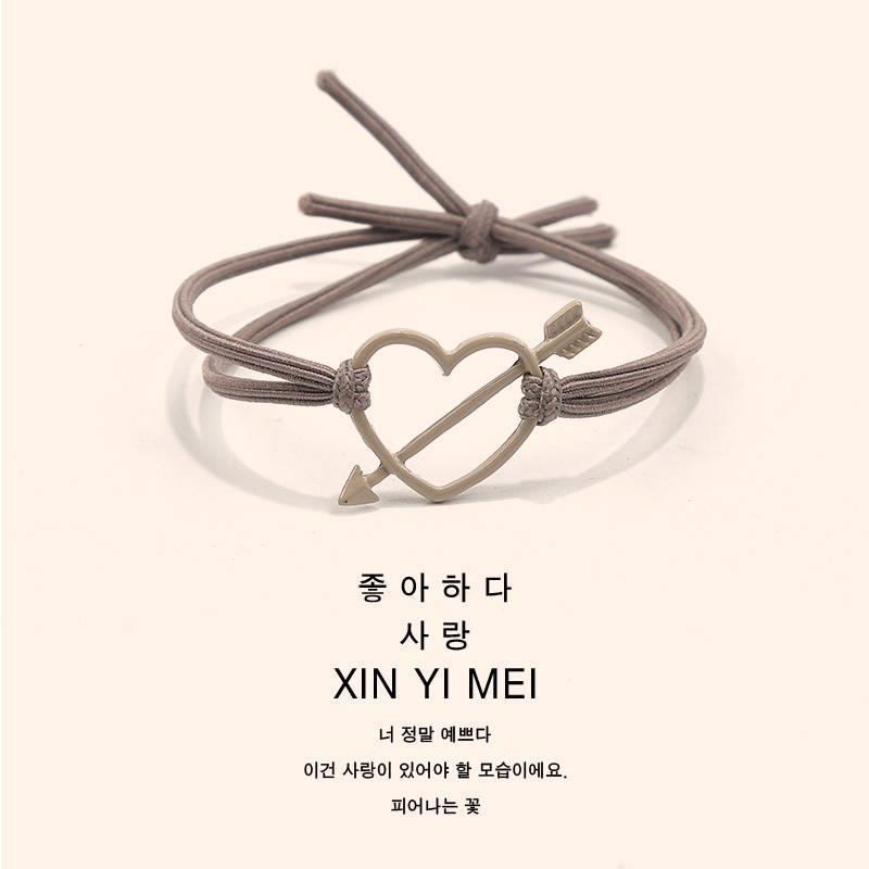 Hair circle, raw leather, Cupids, love, bracelet, head rope, simple dual purpose boyfriend, leather belt, leather sleeve, friend, bit