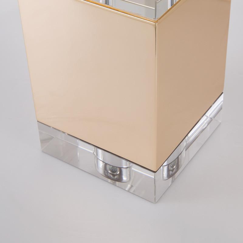 后现代简约创意设计方块水晶精品台灯样板间卧室书房床头柜台灯