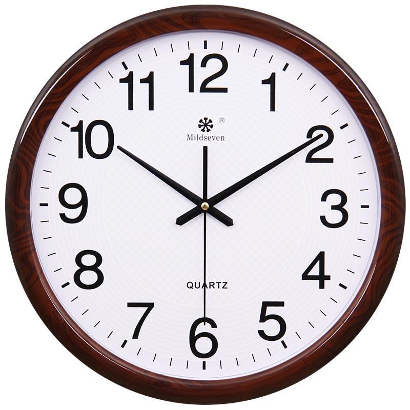 创意弧形玻璃时尚挂钟 客厅大钟表 静音时钟挂表办公石英钟