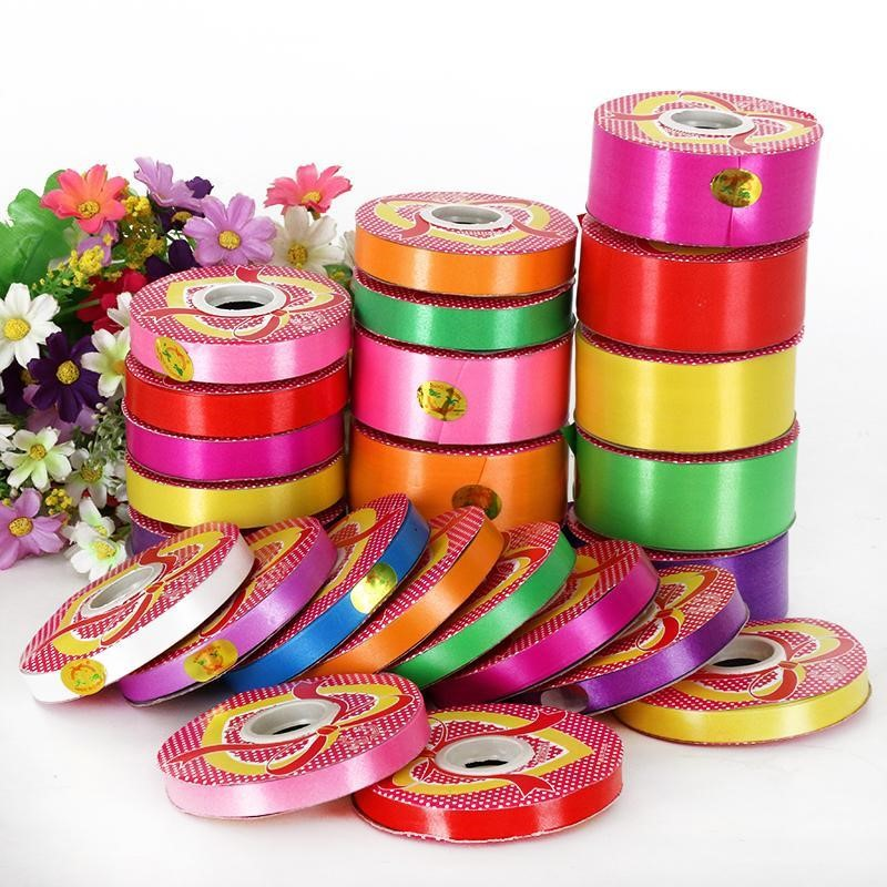 Chinas seven color open color striped shopping mall ribbon decoration belt tear production can be used to decorate the ribbon ribbon
