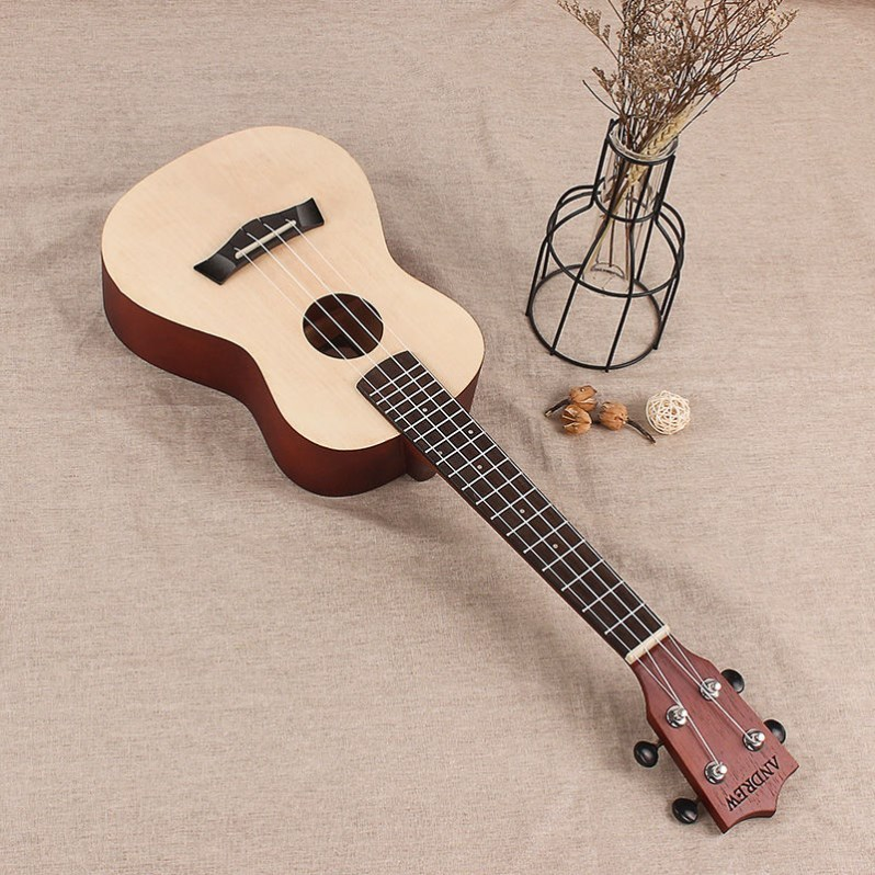 26 four string guitar, single board, ukri, Hawaii, boys style, beginners black girl personality